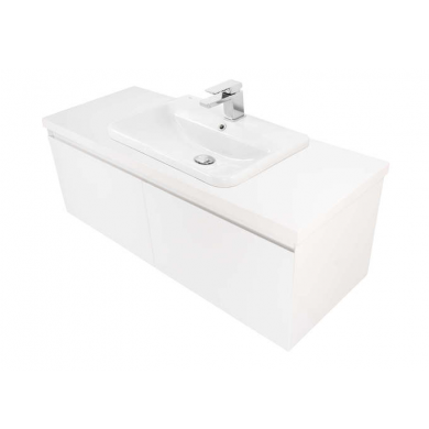 Ravani 1200 Wall Hung 2 Drawer Vanity in Gloss White