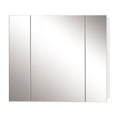 Avon 900 3 Door Mirror Cabinet in Gloss White