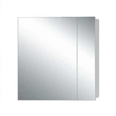 Avon 750 2 Door Mirror Cabinet in Gloss White