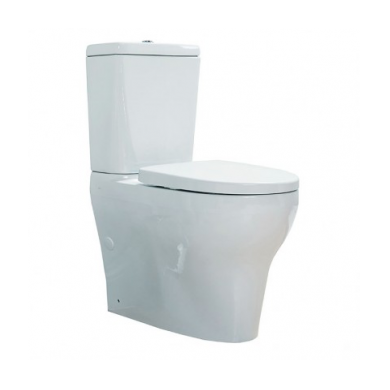 Cygnet Overheight Square CC BTW Toilet Suite - Top Inlet Soft Close Seat