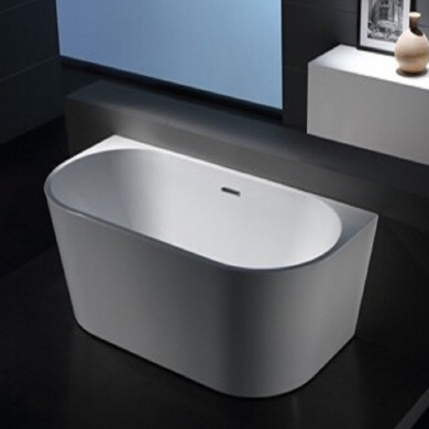 6815B-1500 Curved Shape Back to Wall Freestanding Bath