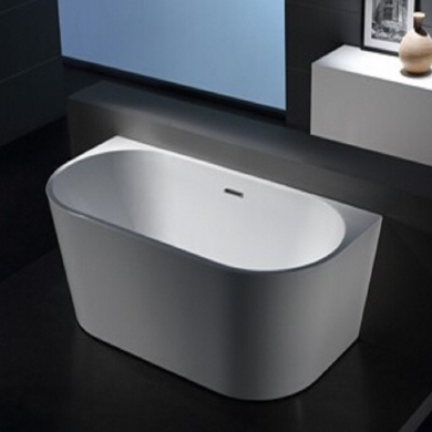 6815B -1700 Curved Shape Back to Wall Freestanding Bath