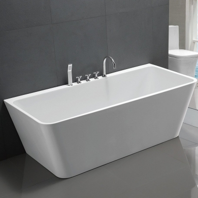 6819B-1500 V-Shape Back to Wall Freestanding Bath