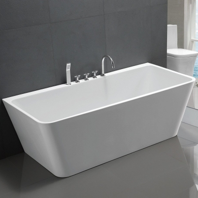 6819B-1700 V-Shape Back to Wall Freestanding Bath