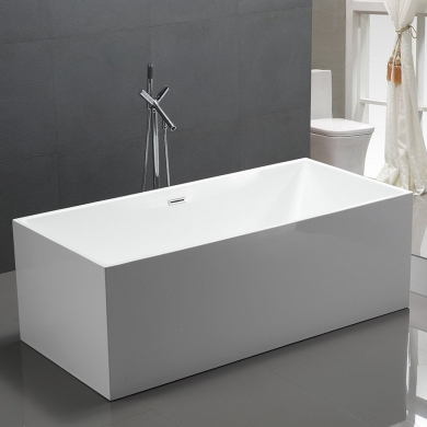 6813b-1700 Four Square Straight Sided Freestanding Bath