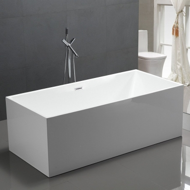 6813B-1500 Four Square Straight Sided Freestanding Bath