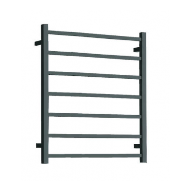 ST75B - 800x600 7 Bar Square Heated Towel Rail Black