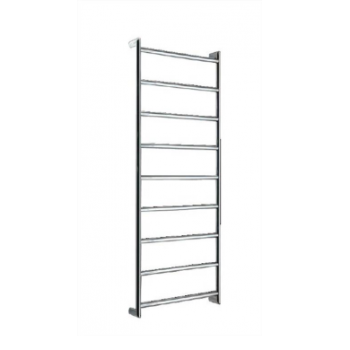 SL350L - 1000x450 L-H Wiring 9 Bar Round Heated Towel Rail