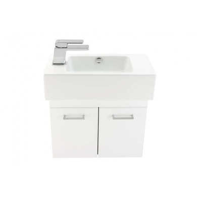 3731L - Venice Junior 500 Wall Hung 2 Door Left Hand Vanity in Gloss White