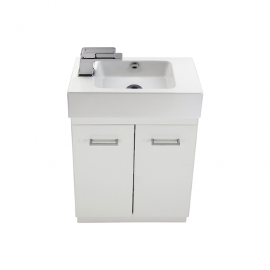 3743 - Venice Junior 500 Plus Floor Standing 2 Door Vanity in Gloss White