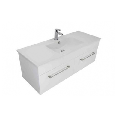 3240ST - Citi 1200 Wall Hung 2 Drawer Vanity in Gloss White Polymarble Slab Top