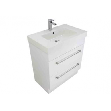 3210VA - Citi 750 Floor Standing 2 Drawer Composite Vasto Ari Vanity in Gloss White