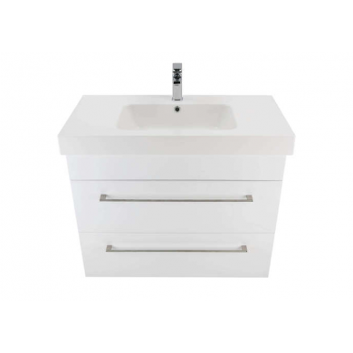 3217V - Citi 900 Wall Hung 2 Drawer Composite Vasto Vanity in Gloss White