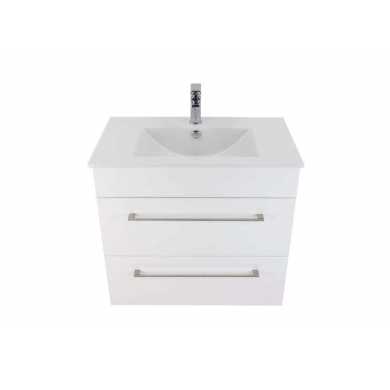 3203 - Citi 750 Wall Hung 2 Drawer Vanity in Gloss White