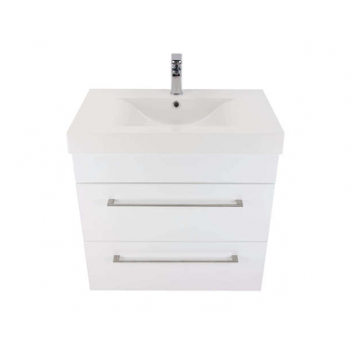 3203Plus - Citi 750 Wall Hung 2 Drawer Composite Plus Vanity in Gloss White