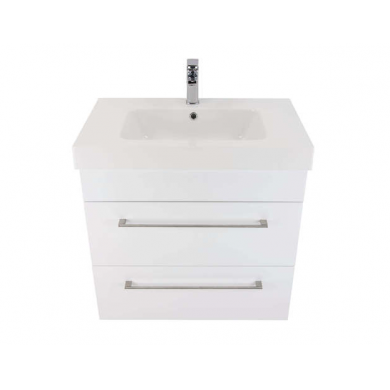 3203V - Citi 750 Wall Hung 2 Drawer Composite Vasto Vanity in Gloss White