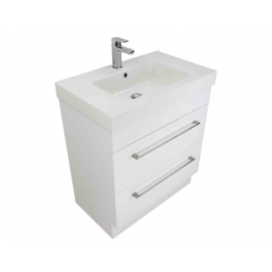 3210V - Citi 750 Floor Standing 2 Drawer Composite Vasto Vanity in Gloss White