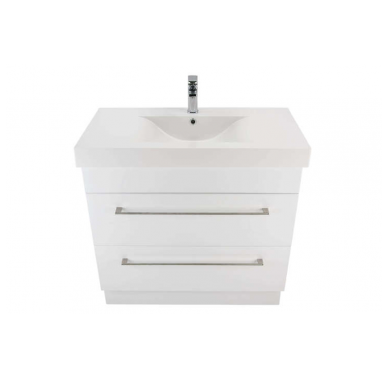 3230Plus - Citi 900 Floor Standing 2 Drawer Composite Plus Vanity in Gloss White