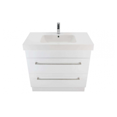 3230V - Citi 900 Floor Standing 2 Drawer Composite Vasto Vanity in Gloss White