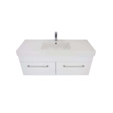 3240V - Citi 1200 Wall Hung 2 Drawer Composite Vasto Vanity in Gloss White