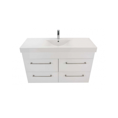 3229Plus - Citi 1200 Wall Hung 4 Drawer Composite Plus Vanity in Gloss White