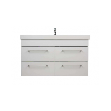 3229V - Citi 1200 Wall Hung 4 Drawer Composite Vasto Vanity in Gloss White