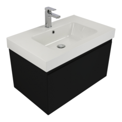 Kolum 750 Wall Hung Composite Vasto Vanity in 5 Colours