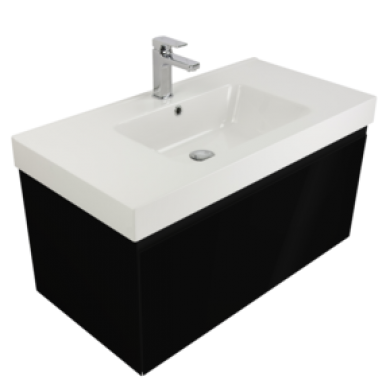 Kolum 900 Wall Hung Composite Vasto Vanity in 5 Colours