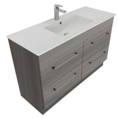 3250 - Citi 1200 Floor Standing 4 Drawer Vanity in 7 Colours
