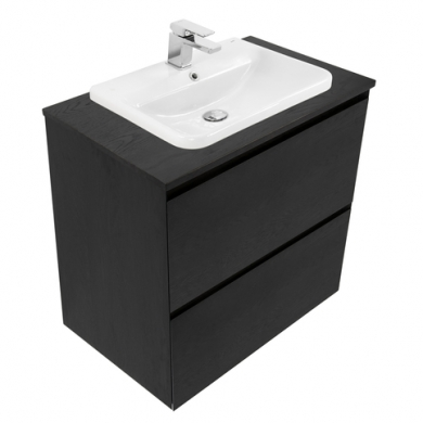 Ravani Double Height Wall Hung Vanity Inset Basin 750 to 1800